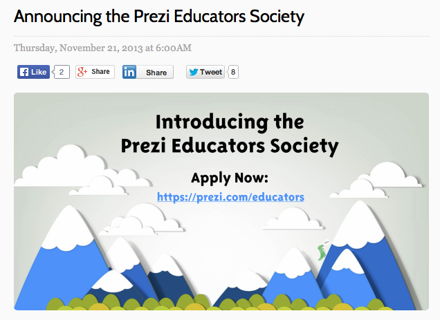 Prezi Educators Society